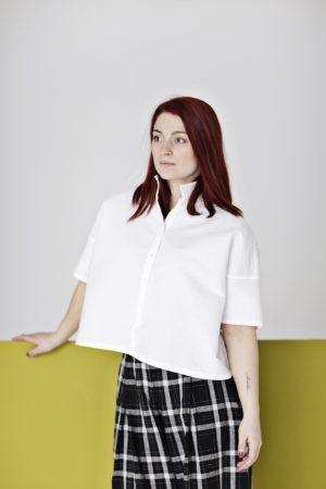 Hvid YaccoMaricard kortærmet skjorte