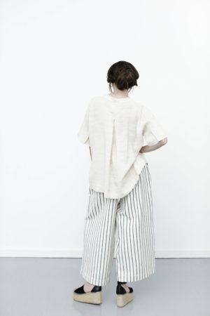 Offwhite oversize kortærmet skjorte