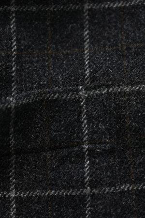 Oversize checkered wool coat