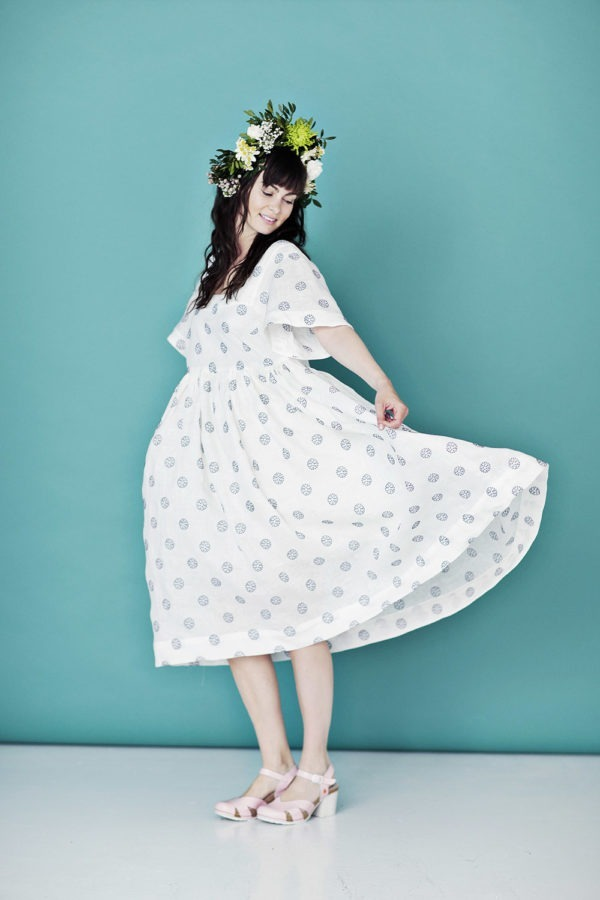 Long dress with beautiful embroidery